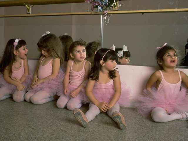 tiny ballerinas in pink tutus