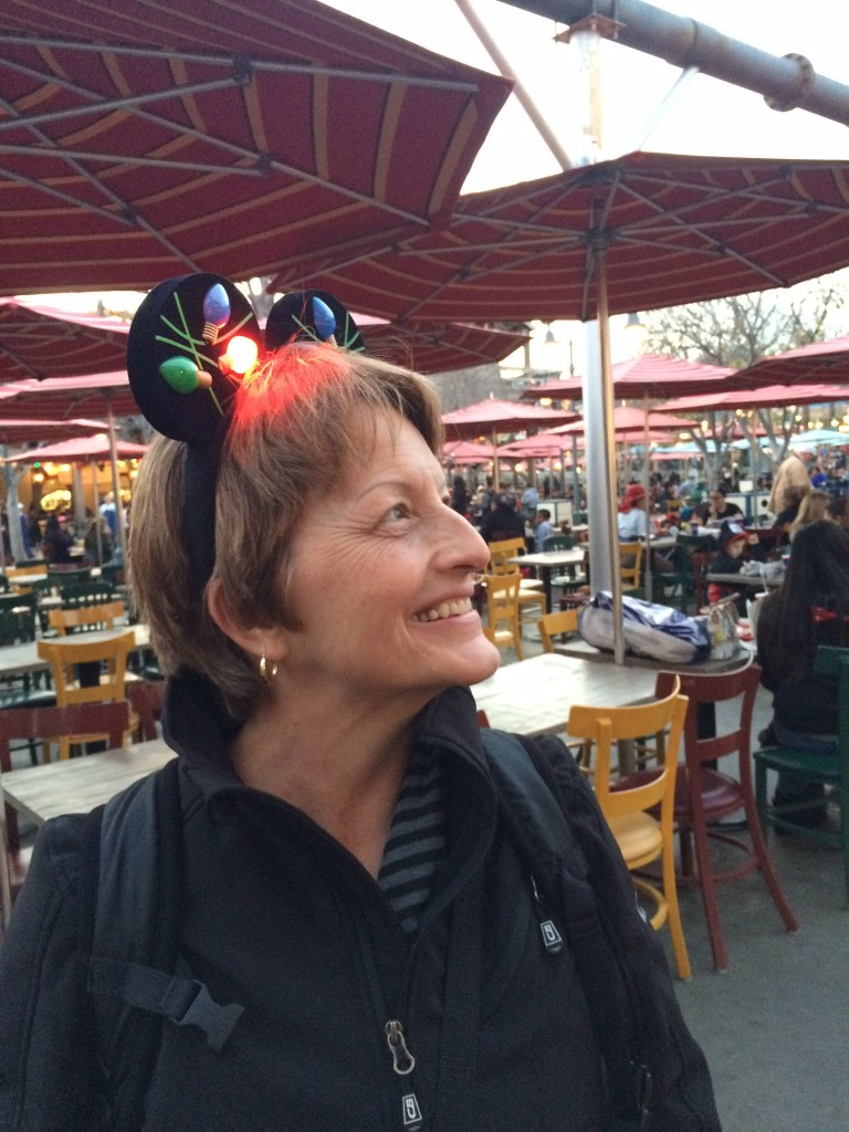 Deborah Myers Being a Kid Wearing Lighted Mickey Mouse Ears